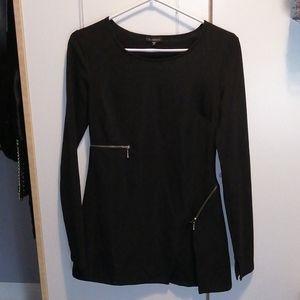 Zipper dress long sleeve
